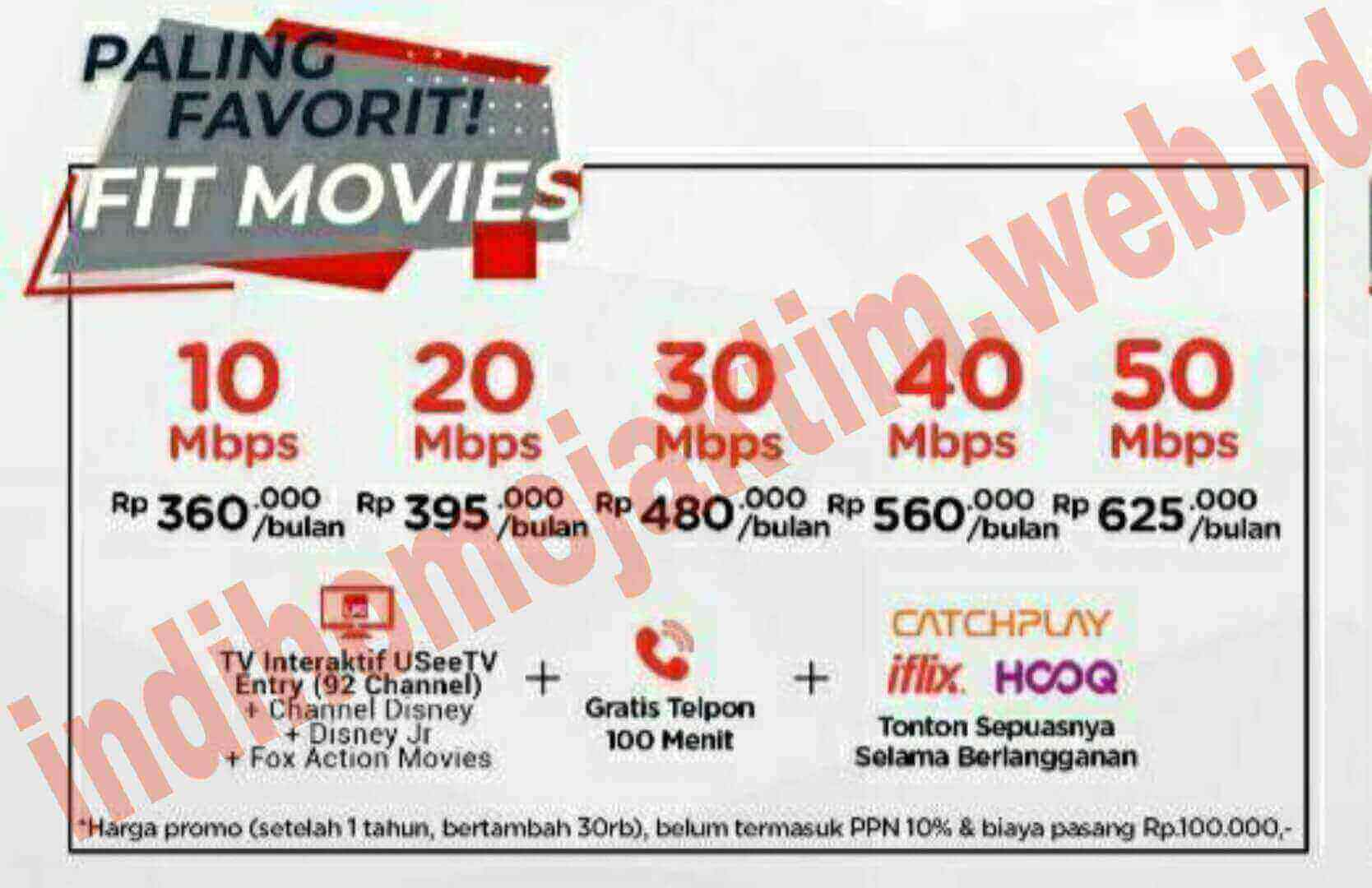 indihome Jaktim fit varian movies