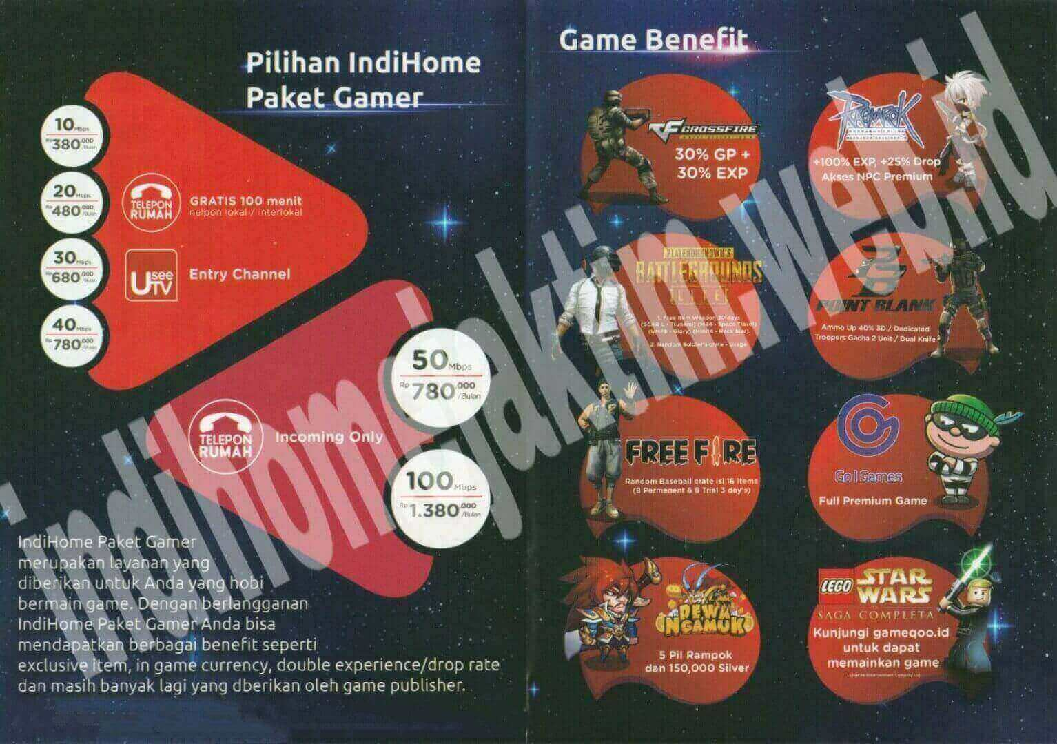 IndiHome Jaktim Paket HSI Gamer